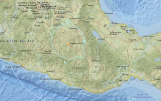 Mexico Earthquake Map