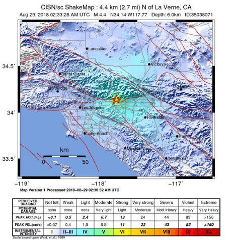 8.28.18 earthquake Los Angeles