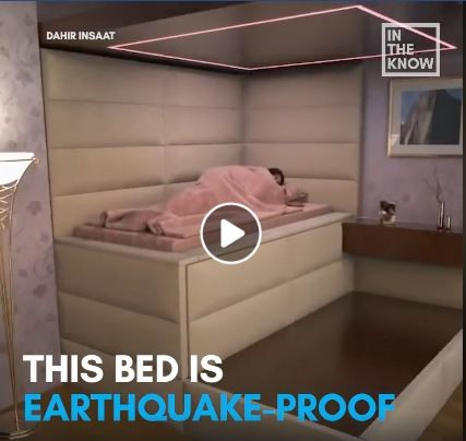 Anti-Earthquake Bed Goes Viral, Draws Mockery from Public