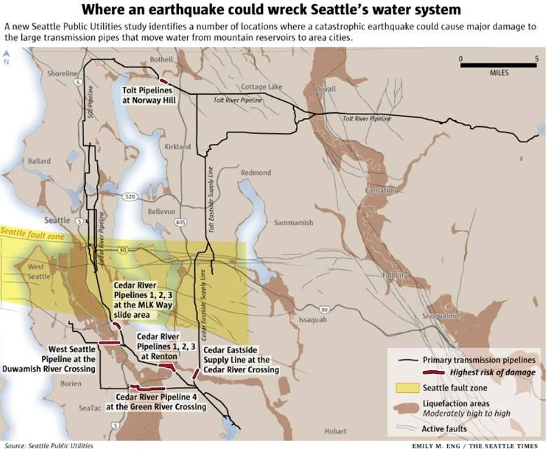 Big Quake Could Leave Seattle Area Without Water