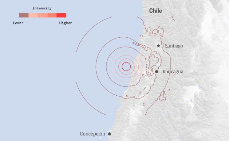 6.8-Magnitude Earthquake Shakes Chile on Aug. 2