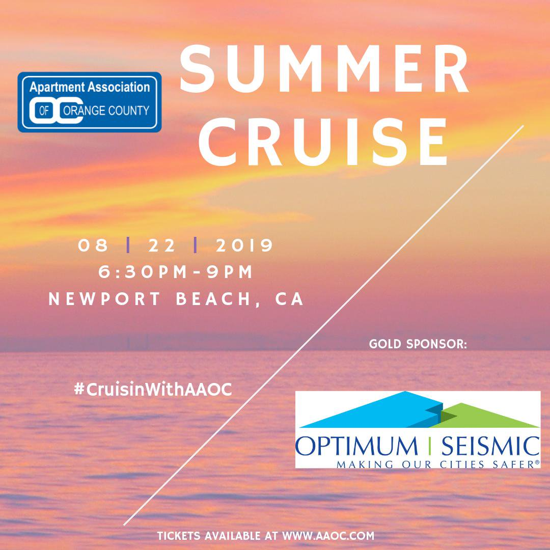 Optimum Seismic, Inc. Sponsors Event for Apartment Association of Orange County