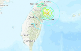 Taiwan hit with an earthquake