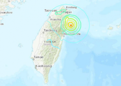 Taiwan hit with an earthquake