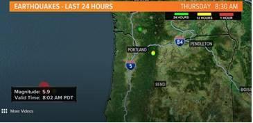Earthquake hit off Oregon Coast