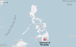 6.6 earthquake hit Philippine Island of Mindanao on Tuesday