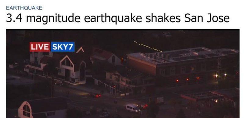 Earthquake hit San Jose