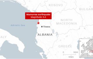 6.4-magnitude earthquake strikes Albania