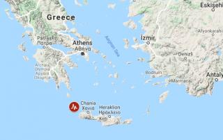 A powerful undersea earthquake has shaken the Greek island of Crete