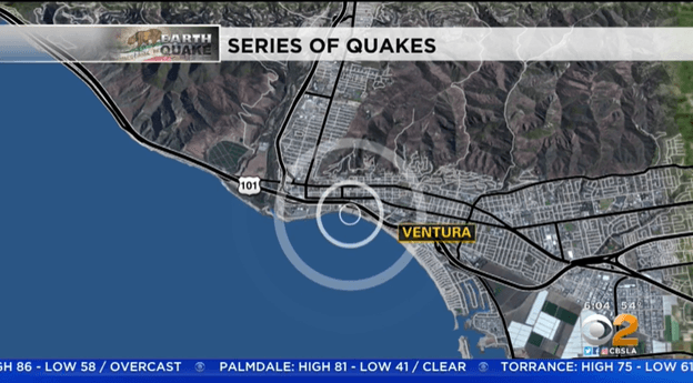 Ventura hit with a 3.5 earthquake for a second day in a row