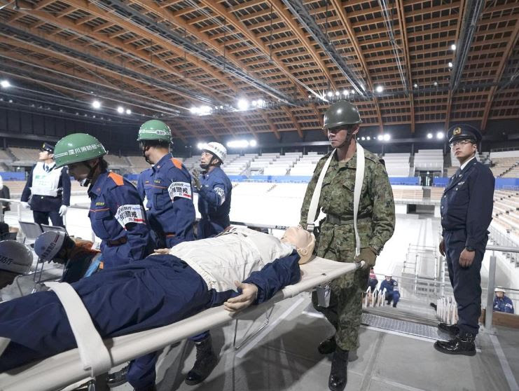 Tokyo Conducts Quake Drill to Prepare for Olympics