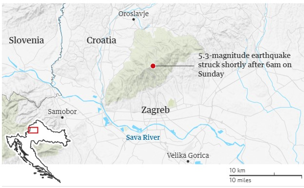 Croatia Hit With A 5.3 Magnitude Earthquake