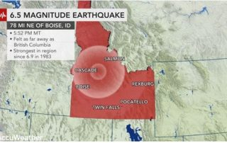 6.5 Earthquake Magnitude Earthquake Hit Idaho