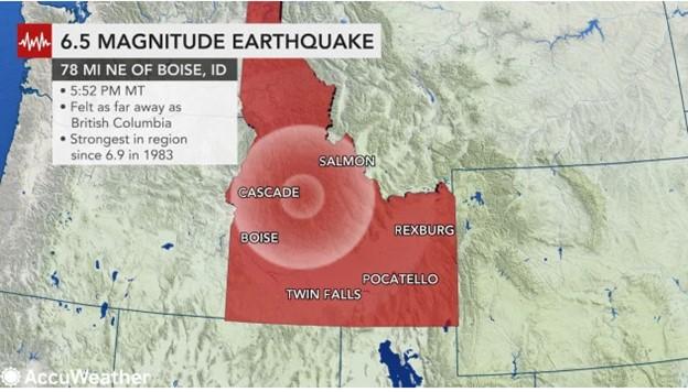 6.5 Earthquake Magnitude Earthquake Hit Idaho
