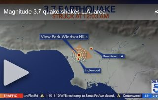 LA was hit with a 3.7 earthquake