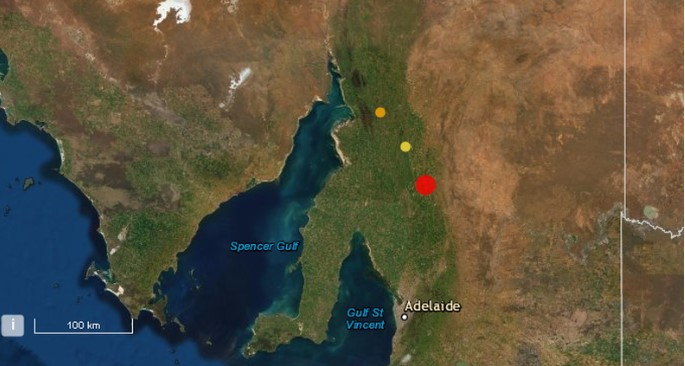 South Australia hit with an earthquake