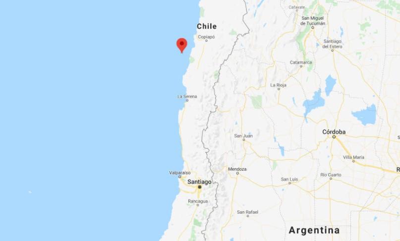 Earthquake hits off northern Chile