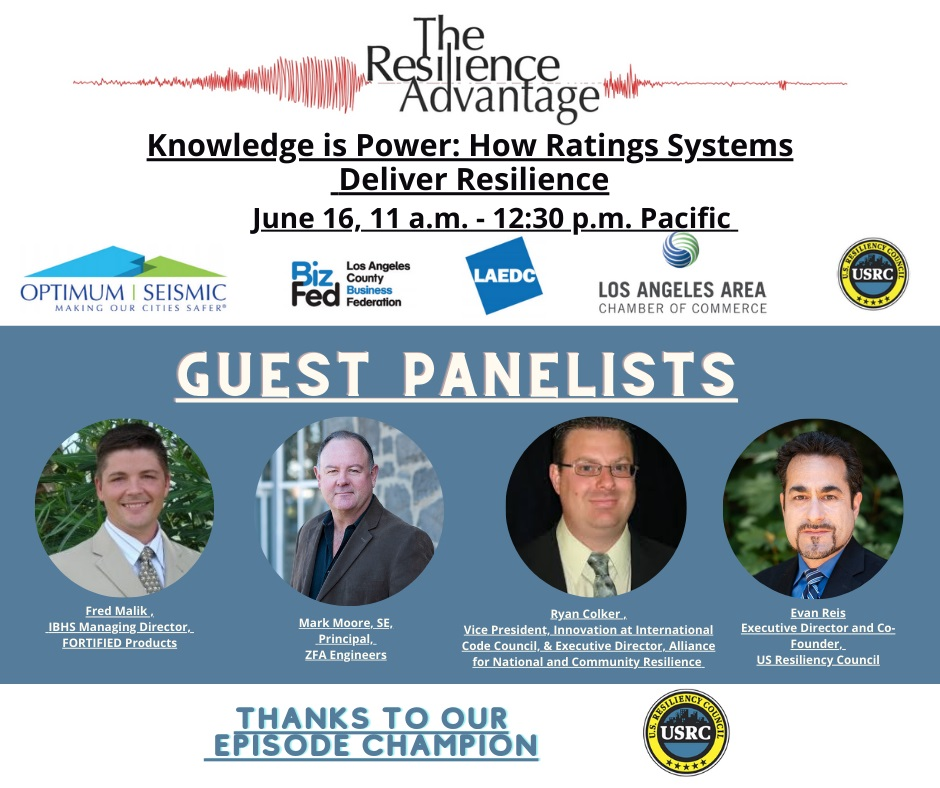 Top experts to address how knowledge builds resilience ratings