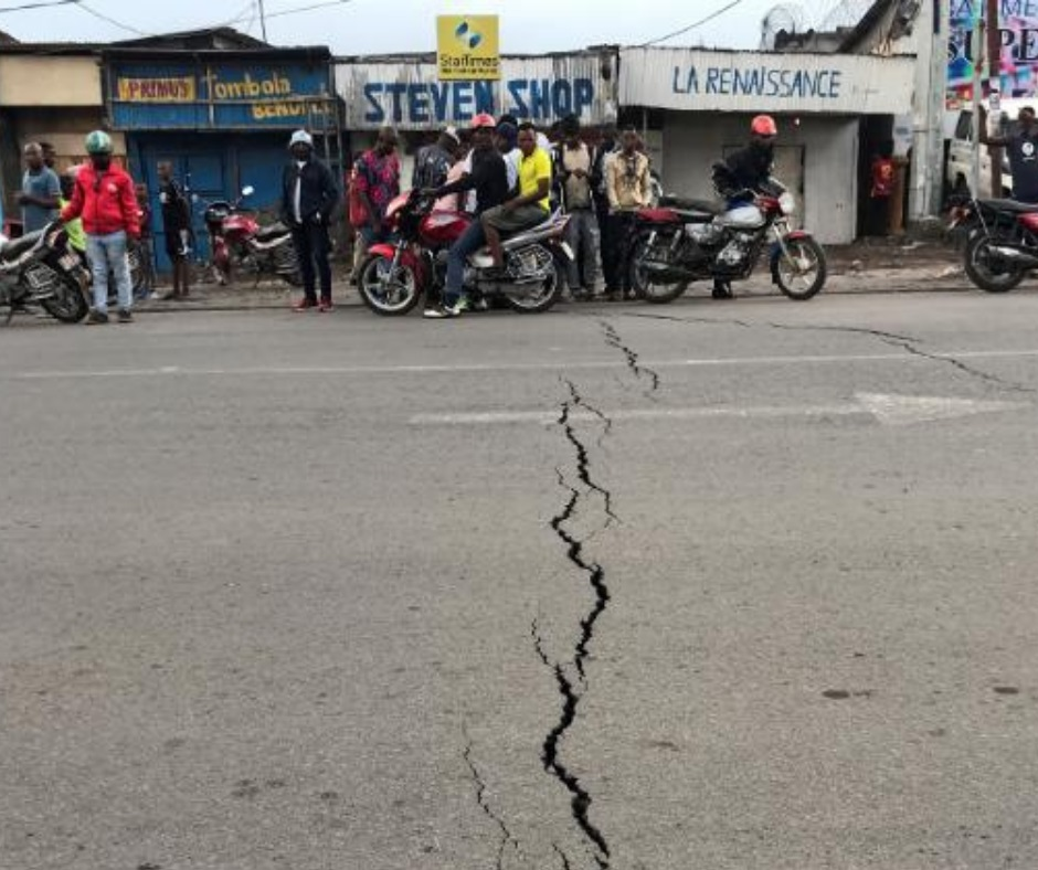 Volcanic eruption sparks 61 quakes in Republic of Congo