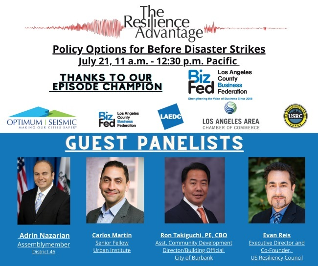 Webinar to address policies needed before disasters